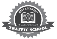 Traffic School On-line DMV Licensed Seal